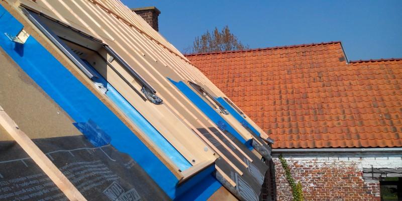 9 pose des fenêtres de toit avec coupure des pont thermique et étanchéité au vent